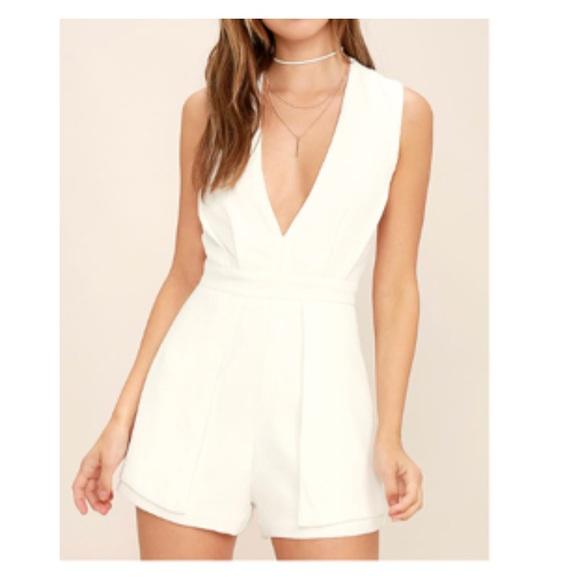 e0f5c33bf3c Lulu s Dresses   Skirts - Lulus White Backless Romper